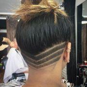 black girl undercut design