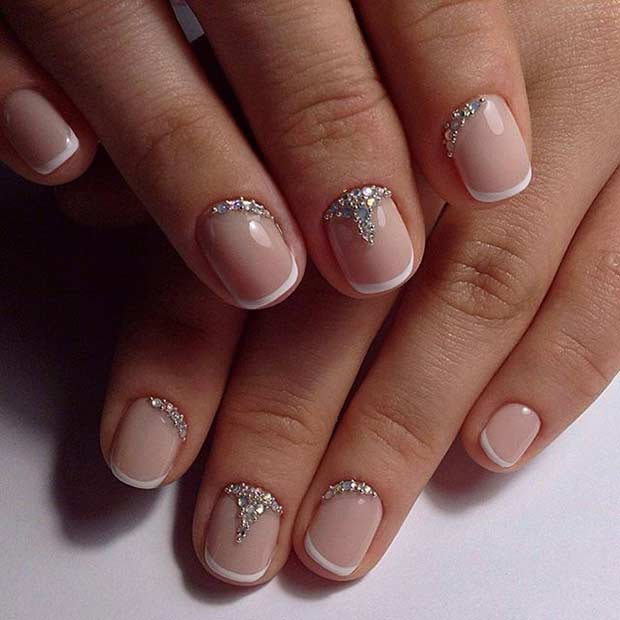 This French Tip Ensemble Consists Of A Base Polish And Finished