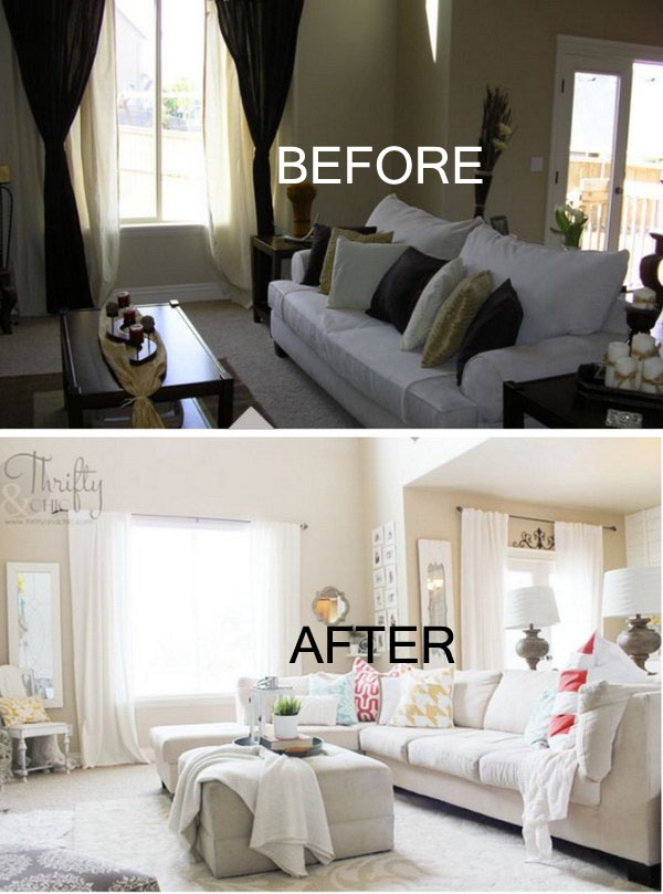 17 Awesome Before and After Living Room Makeovers  Page 3