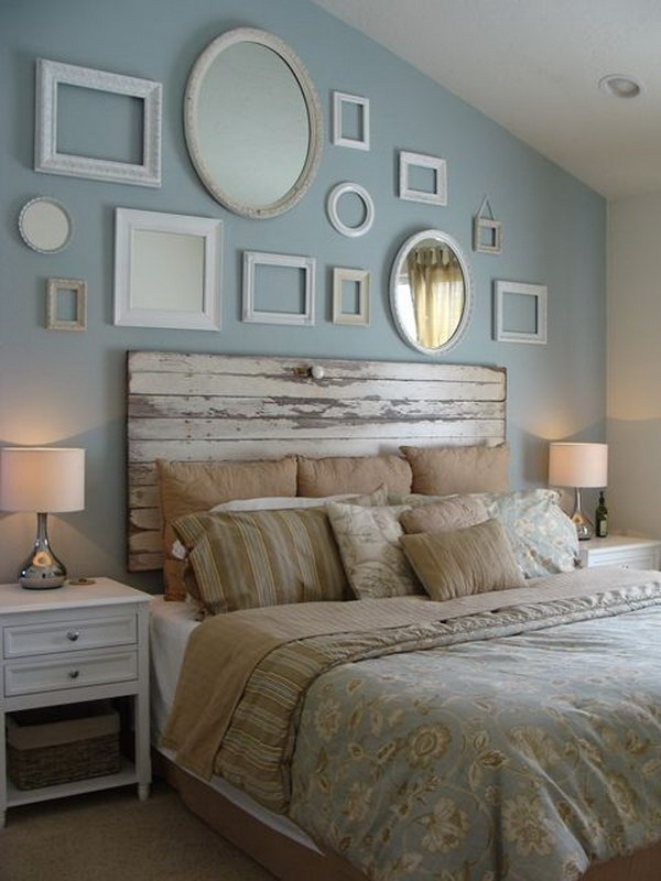Inexpensive diy bedroom decorating ideas on a budget 02. 20 Awesome Headboard Wall Decoration Ideas – Page 6