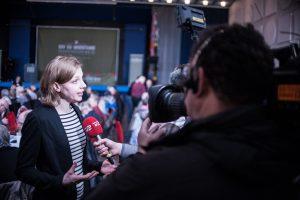 Rina Ronja Kari, landsmøde 2016. Foto: Alexander Zehntner