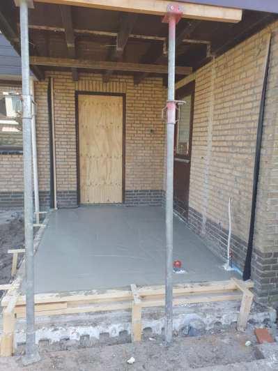 Realiseren van een aanbouw woning. Folkertsma Metsel- en Klusbedrijf Friesland
