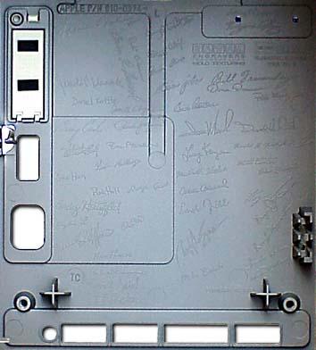 Signatures of Mac team inside original Macintosh case.