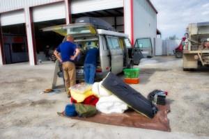 van breakdown