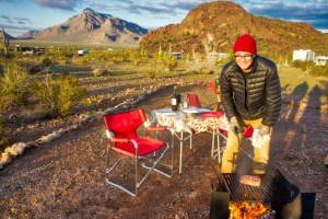 cooking over fire in AZ
