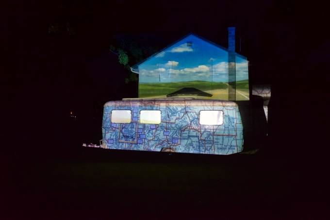 Shangri-La video projection