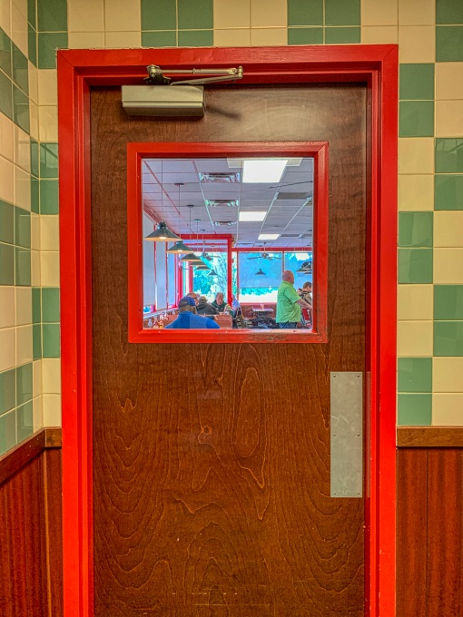 doorway to fried seafood