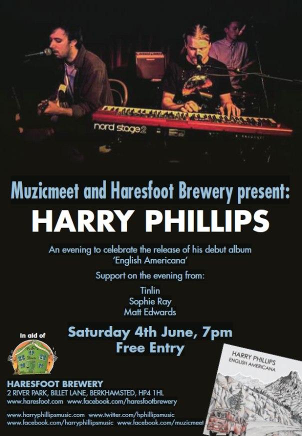 Harry Phillips gig poster 4 June 2016