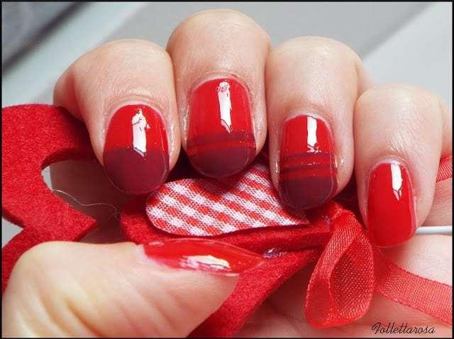 nail art rossa autunno