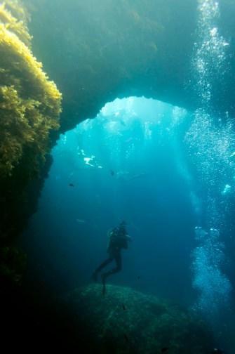 Unterwasserbild des Blue Hole auf Malta