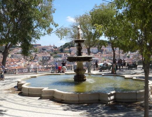 Lissabon Brunnen Platz