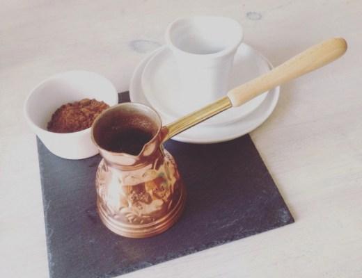 kaffee, griechenland, kupferkanne, traditionelle zubereitung, tradition