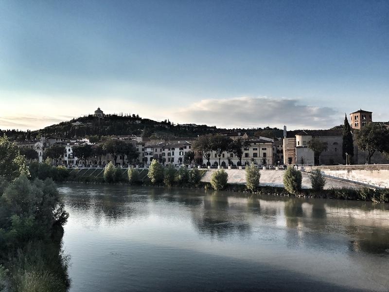 Kulisse Verona Fluss