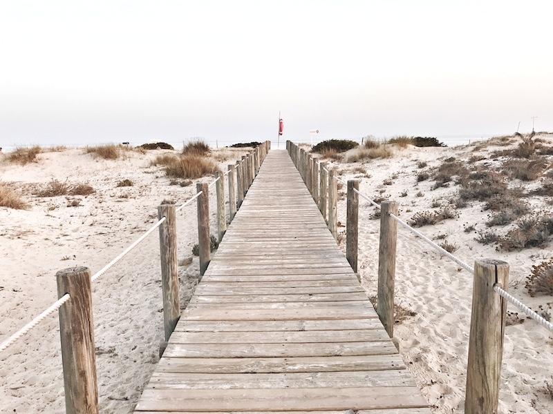 Holzsteg Meer Algarve
