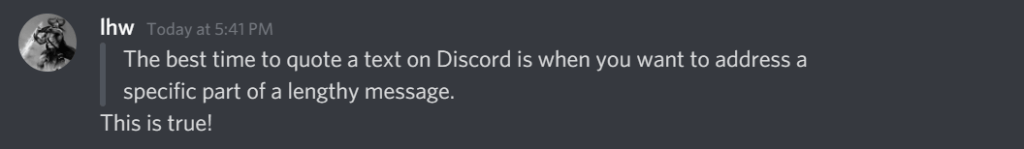 Discord quote