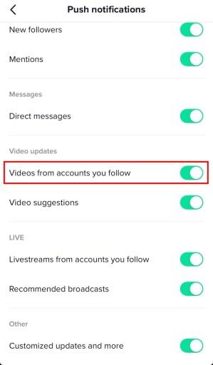 How to Turn on Post Notifications on TikTok