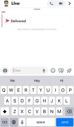 Snapchat red arrow