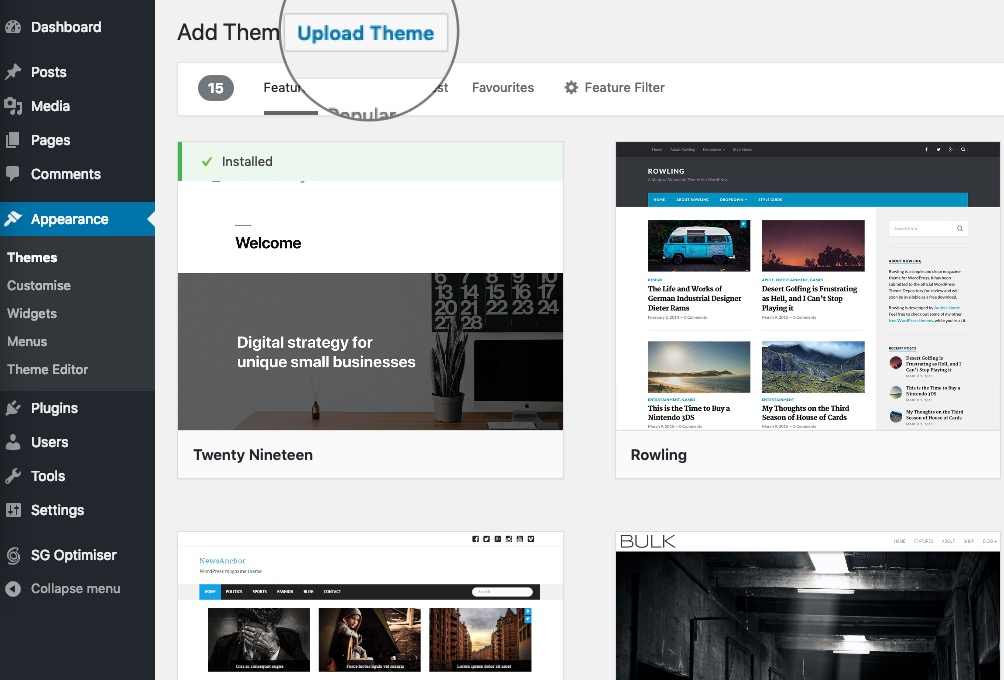 How to upload a theme to WordPress