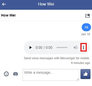 Download Facebook Messenger voice message