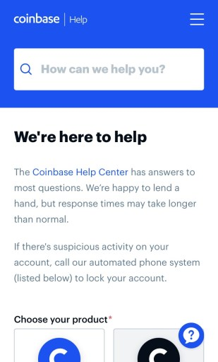 Coinbase Help Center