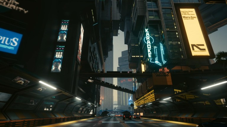 night city streets cyberpunk wallpaper