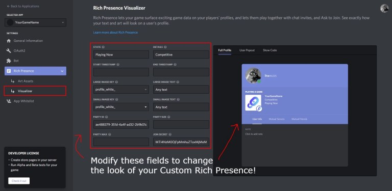 How to get a Custom Rich Presence on Discord