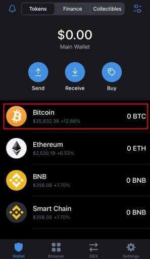 Bitcoin wallet Trust Wallet