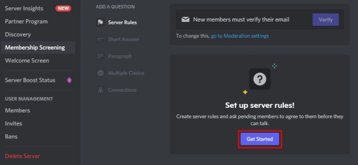 How to add rules to your Discord server