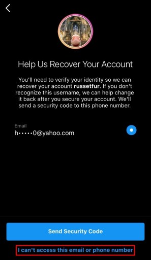 How to reset your Instagram password without email