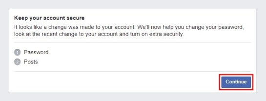 Keep your account secure