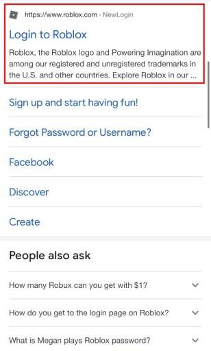 Roblox login