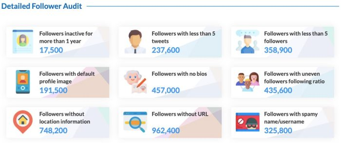 Twitter followers analysis