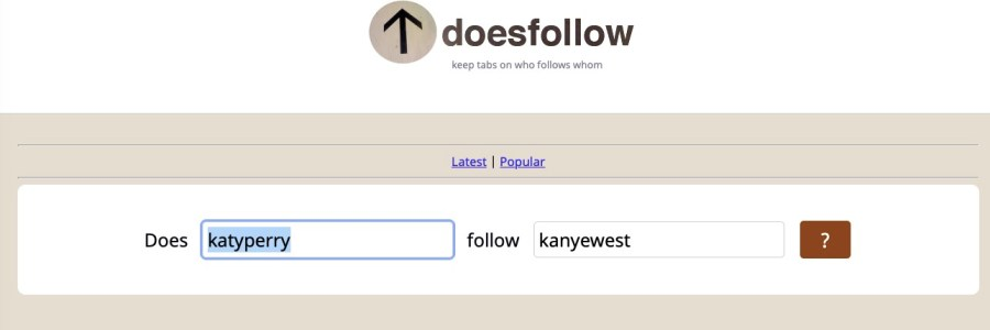 find who follows whom on Twitter