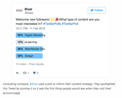 how to use Twitter polls