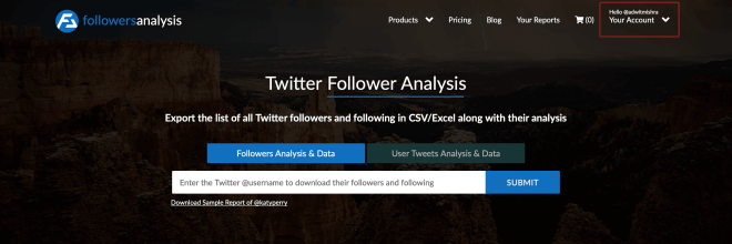 Download Twitter followers list