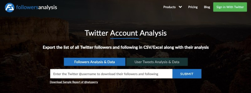 Twitter followers insights with FollowersAnalysis