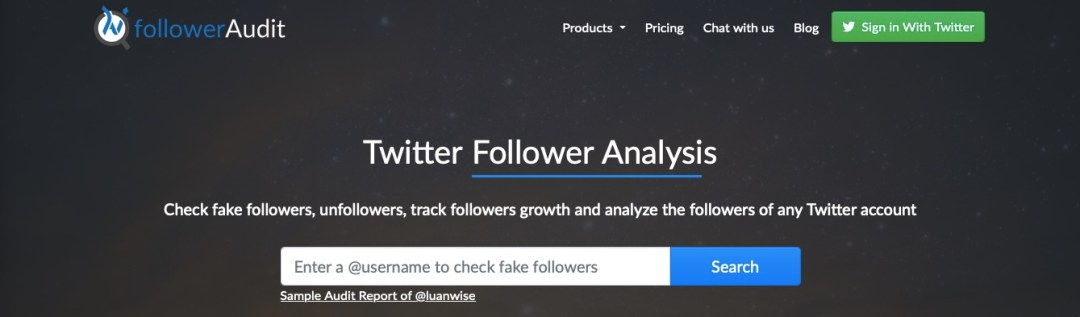 track, audit, and analyze Twitter followers with FollowersAnalysis.com