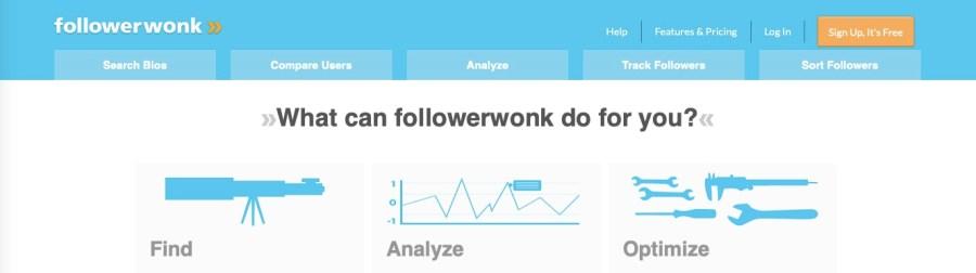 Twitter followers analysis tool