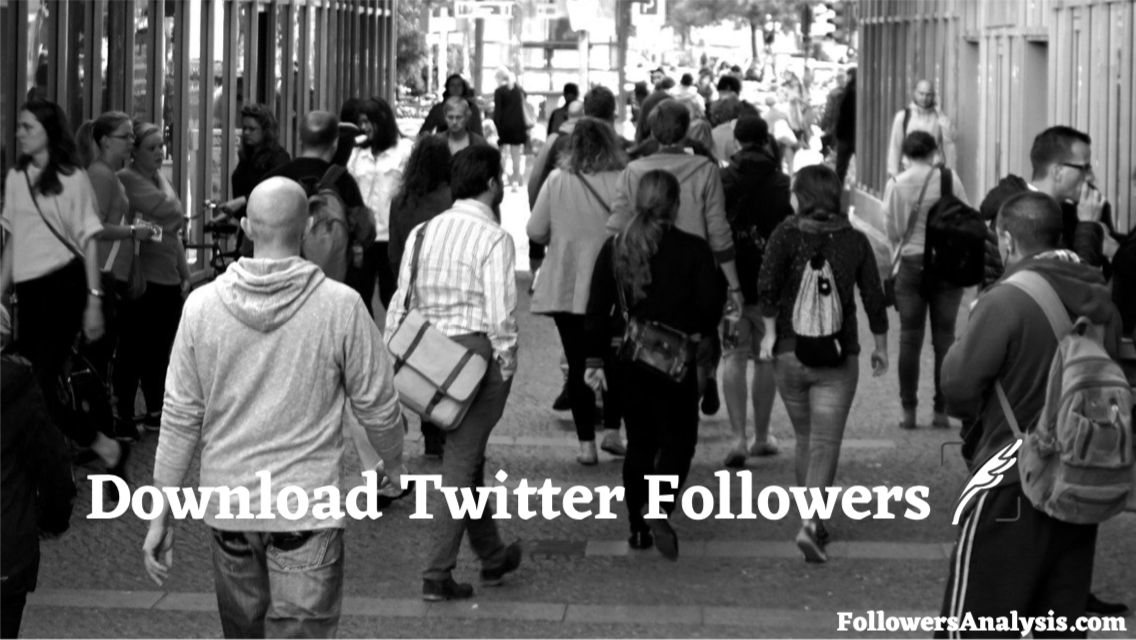 how to download Twitter followers