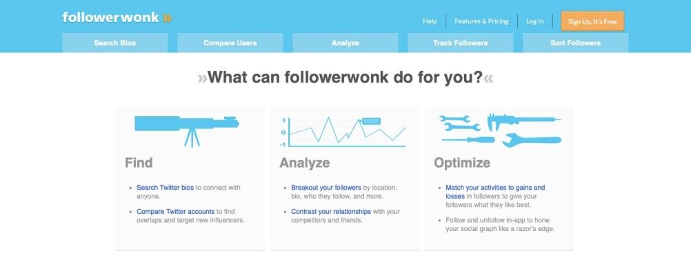 Track Twitter followers with followerwonk