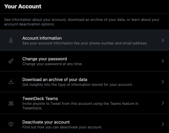 download your Twitter archive