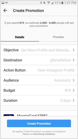 13 set budget untuk iklan di instagram