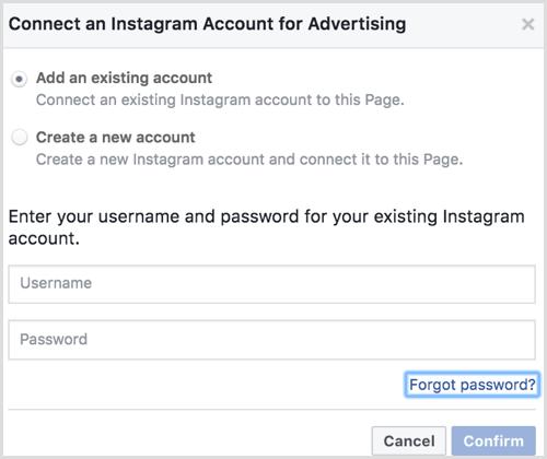 46 connect account iklan instagram