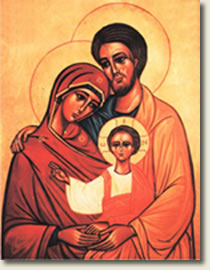 Icon of holy family