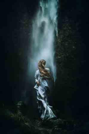 alps waterfall