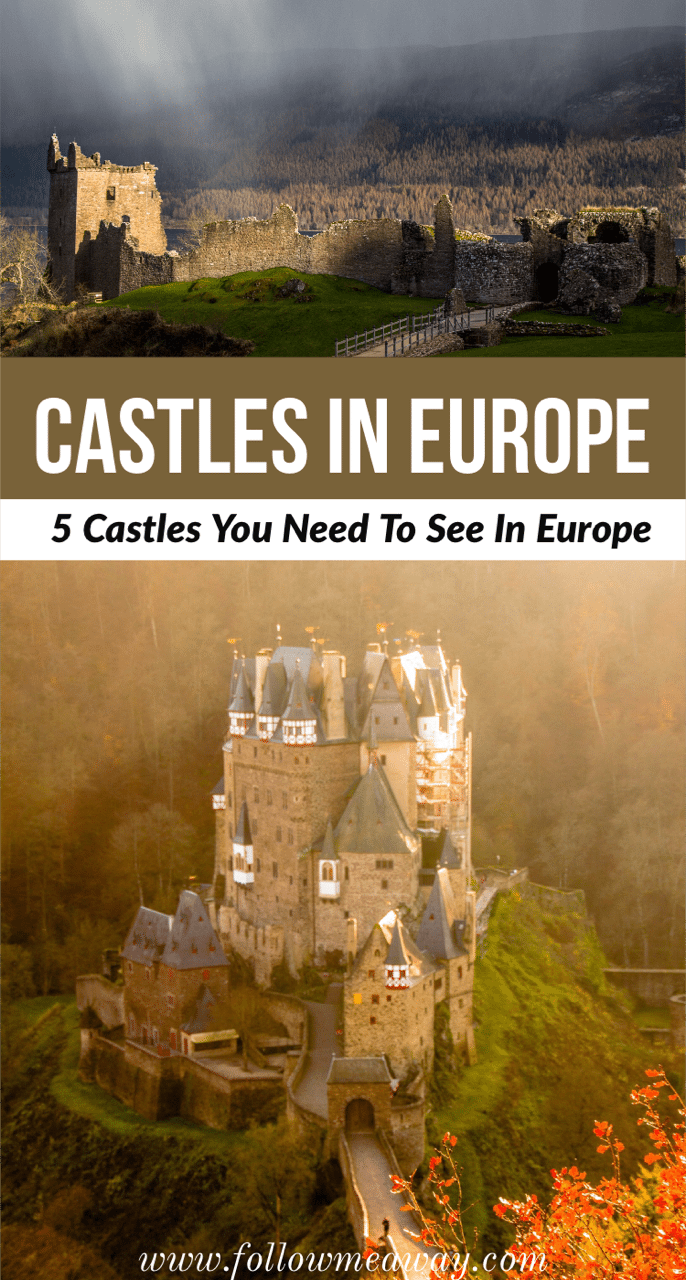 there are so many castles in europe to visit that it was hard to narrow down such a short list! European castles are full of dreamy history and you need to put these 5 castles in Europe on your bucket list! | amazing castles in England | best castles in Europe | #castles #europe #europetravel #england #france #scotland #Portugal #bestcastles #fairytale #traveltips