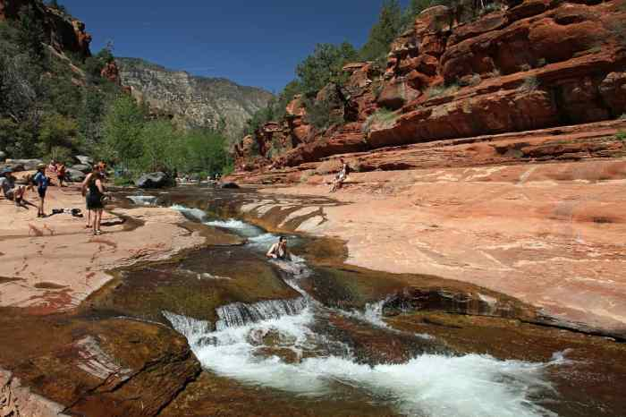 Slide Rock State Park is a fun part of the Arizona road trip itinerary
