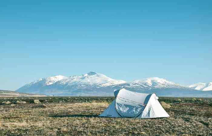 Tent camping in Iceland, camping sites in iceland