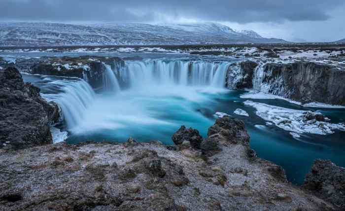 godafoss waterfall photography in iceland