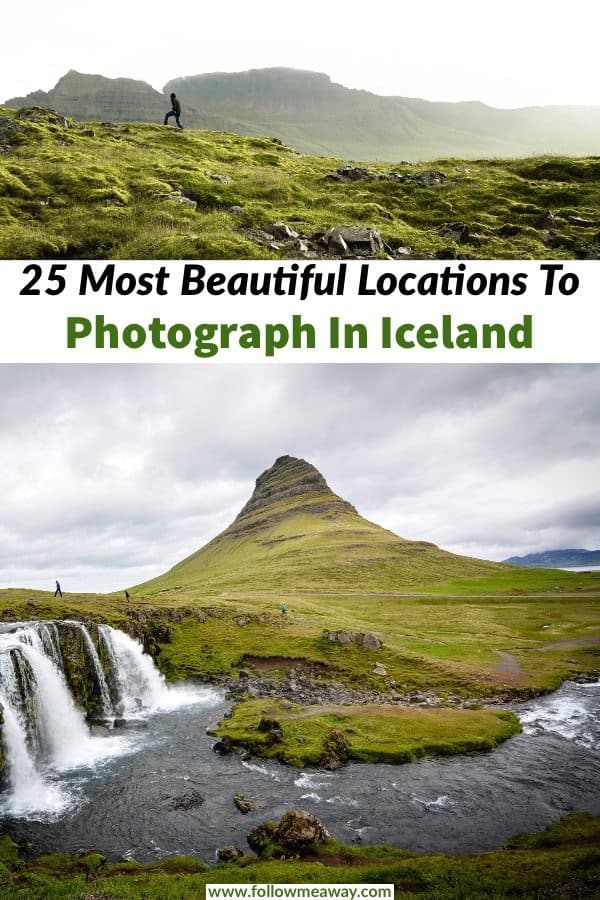 Some of the most beautiful Iceland photography locations can find them all around Iceland's ring road. These are 25 of the most stunning places to photograph in Iceland and they are perfect to add to your Iceland road trip! #iceland #traveltips #icelandphotography #icelandic #photography #landscapes #travel #landscapephoto #kirkjufell #solotravel #travelphotography #travelphoto #icelandtravel
